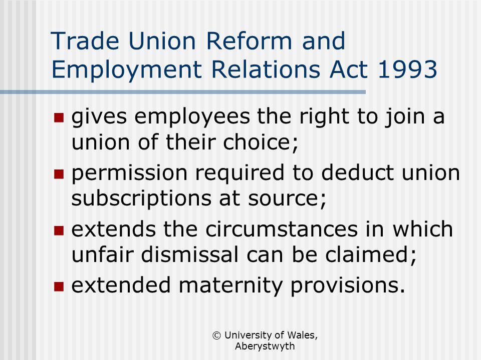 employment and trade unions Section 10 of the employment relations act 1999 introduced the right of a worker to be accompanied by a trade resignations and disciplinary allegations i have written before about 'heat of the moment' resignations.