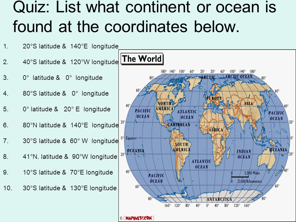 Latitude and longitude ppt video online download 9 quiz list what continent gumiabroncs Gallery