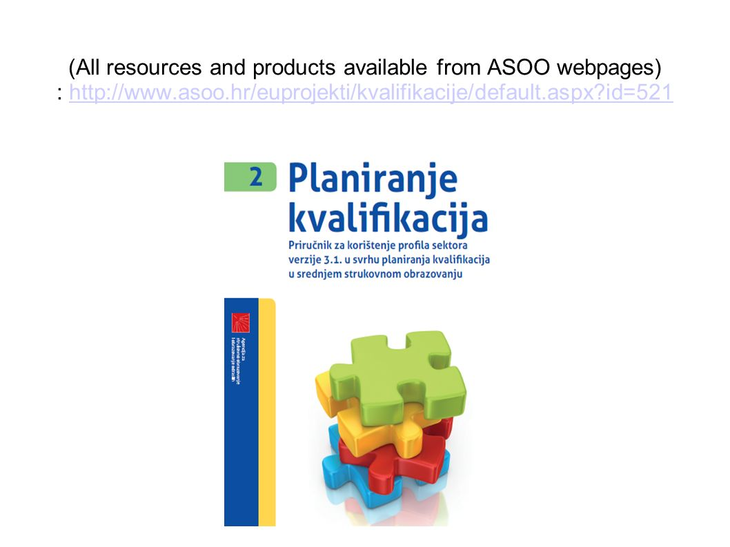 (All resources and products available from ASOO webpages) : http://www