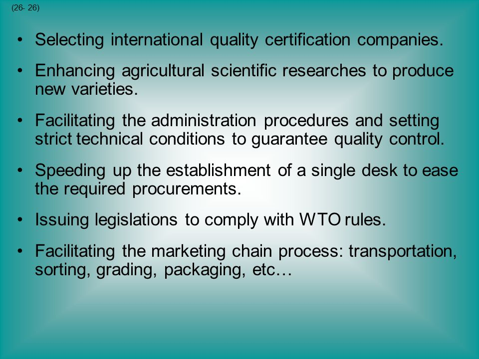 Selecting international quality certification companies.