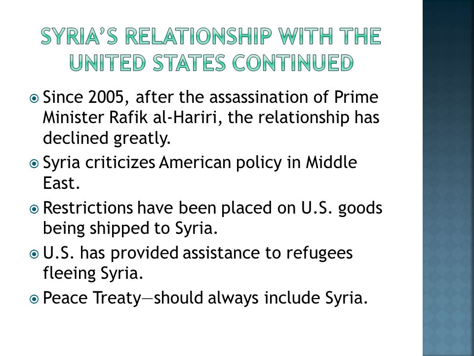syria and turkey relationship to america
