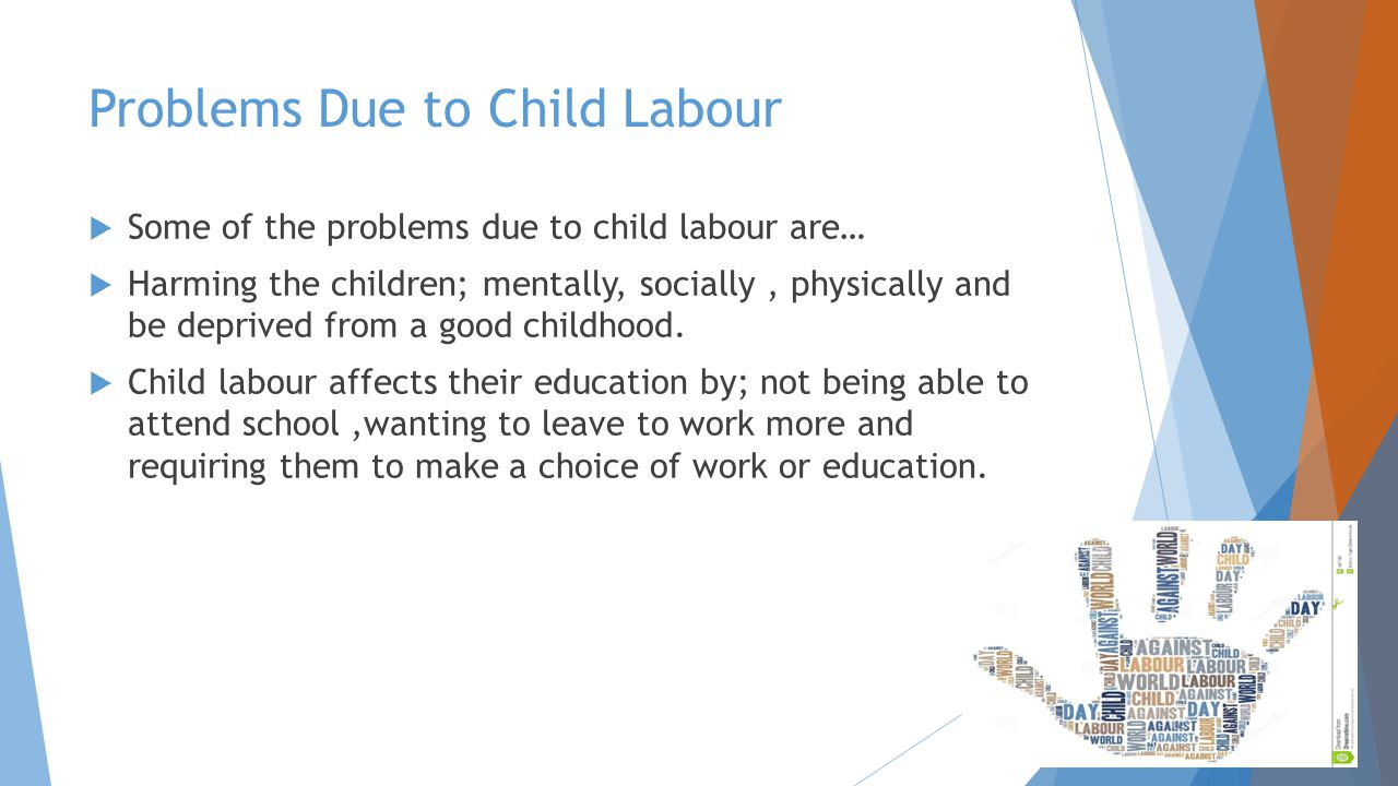 how child labor affects a child The effect of trade liberalization on child labor the question of how trade liberalization affects the employment of children in developing economies is at the.