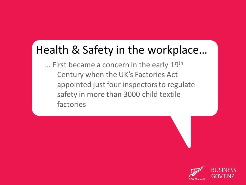 Health & Safety in the workplace…