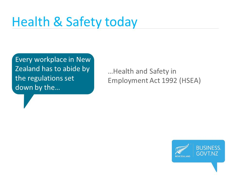 Health & Safety today Every workplace in New Zealand has to abide by the regulations set down by the…