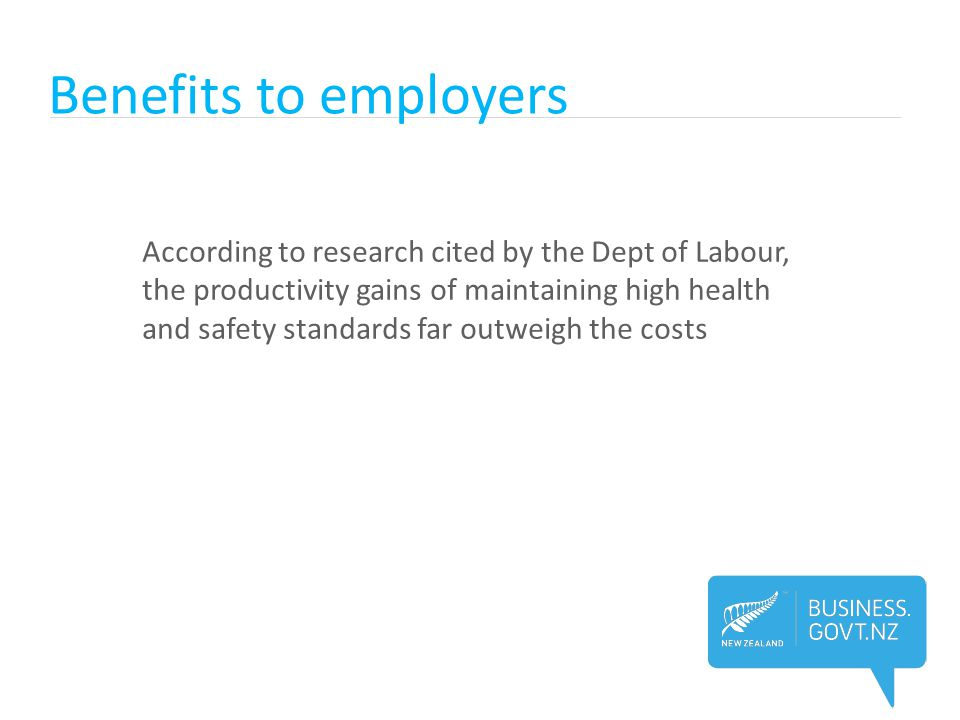 Benefits to employers