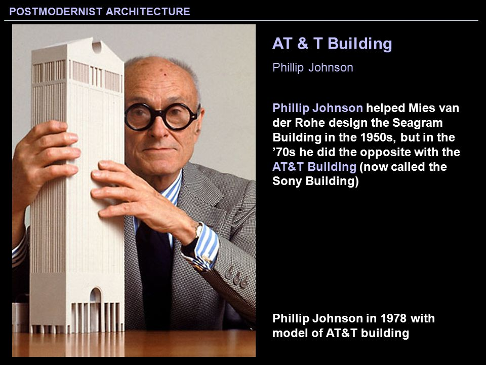 Less is more less is a bore modernist architecture for Seagram building ppt