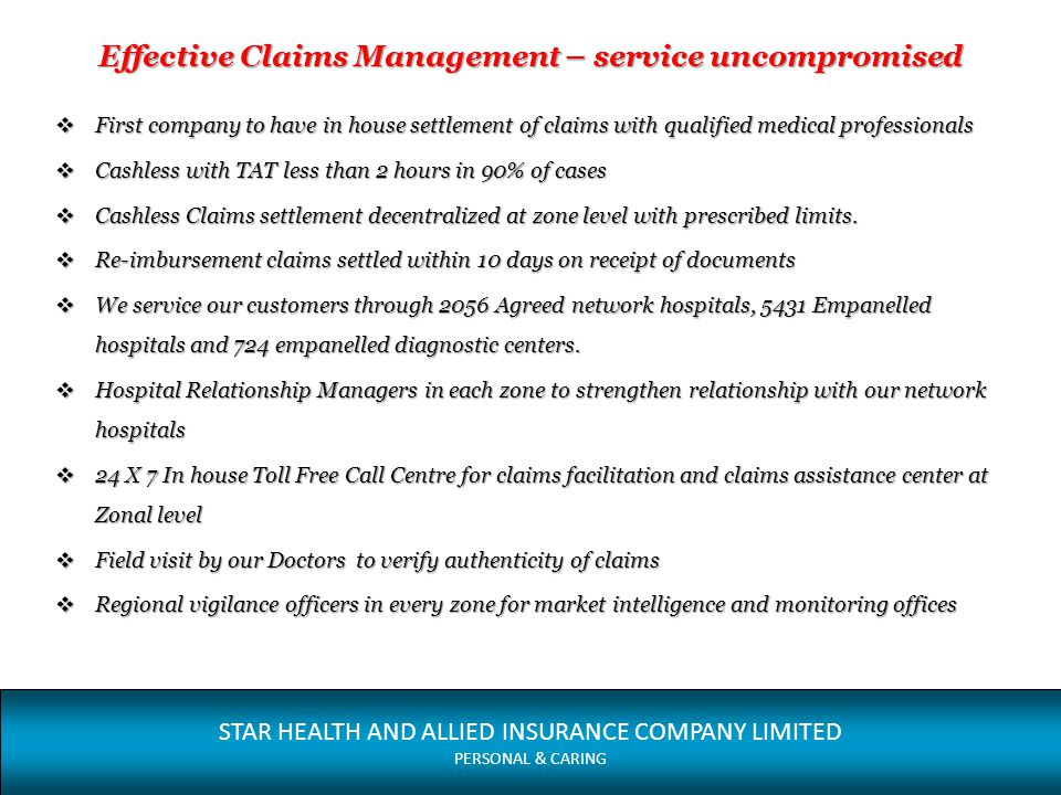Effective Claims Management – service uncompromised