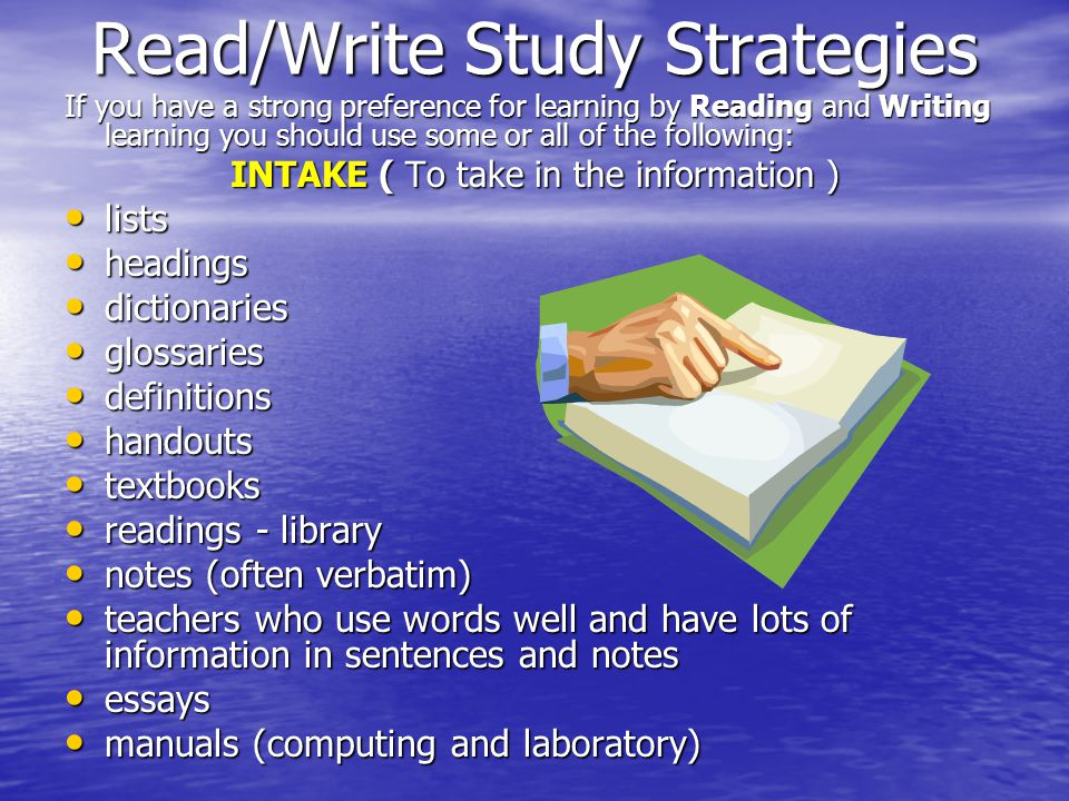 Study Guides and Strategies