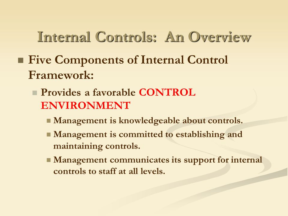 10 32 components of internal control 23/ the procedures performed to obtain an understanding of certain components of internal control in accordance with  32/ paragraphs 16-35 of auditing standard.