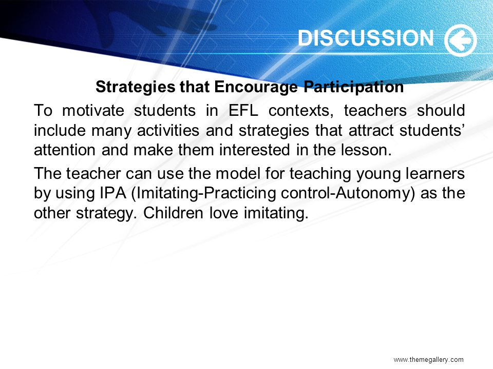Strategies that Encourage Participation