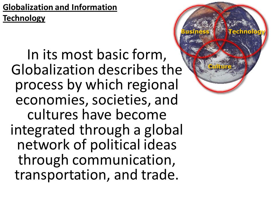 how globalization and technology changes have How technology is changing, challenging the food industry while profit margin pressures have driven globalization of the food chain food quality & safety.