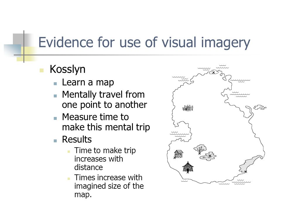 evidence that mental representation is based on imagery This brief review highlights research findings on mental representation and motor imagery in the elderly and addresses the implications for improving movement efficiency and lowering the risk of perceiving what is reachable depends on motor representations: evidence from transcranial magnetic stimulation study.