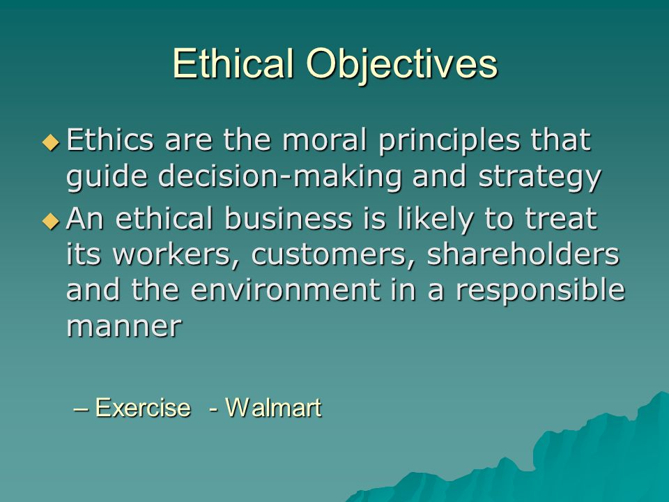 ethical decision making of walmart Our approach why ethics matter  ethical decision making the ige approach to decisionmaking presents ethics as a process, one we break down and apply to.