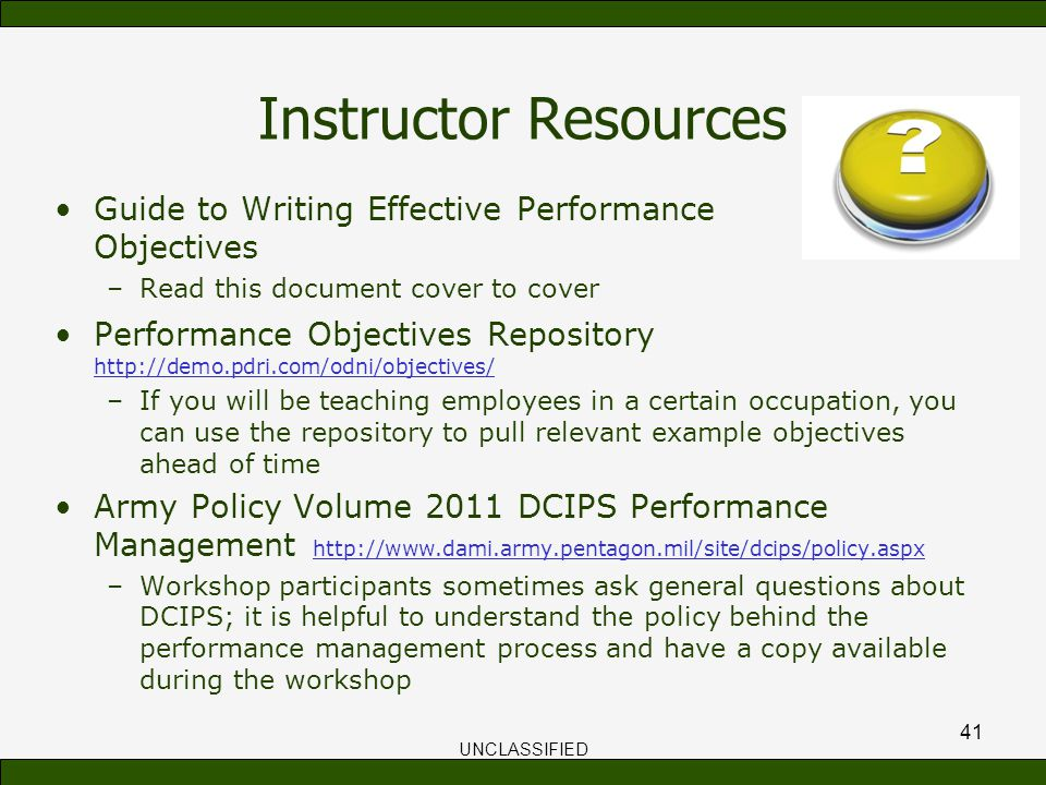 writing performance objectives Performance management evaluation program writing smart objectives last updated date 10/2012 page 2 of 4 iii planning stage - defining objectives for the year.