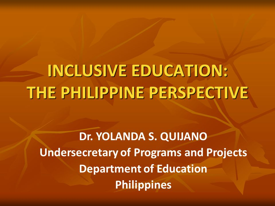 legal basis of assessment of special education in the philippines