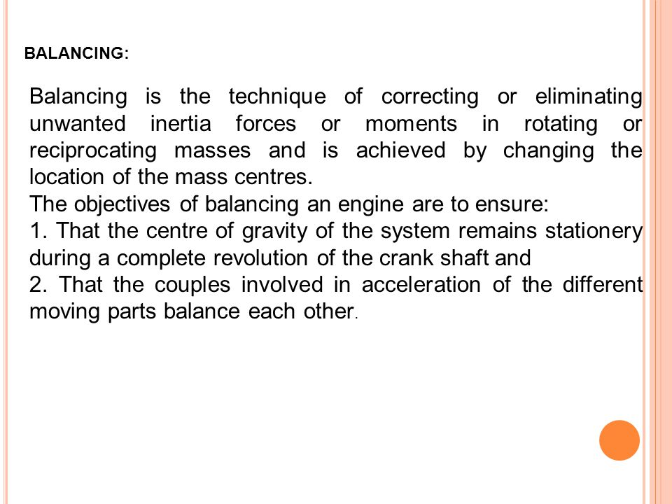 The objectives of balancing an engine are to ensure: