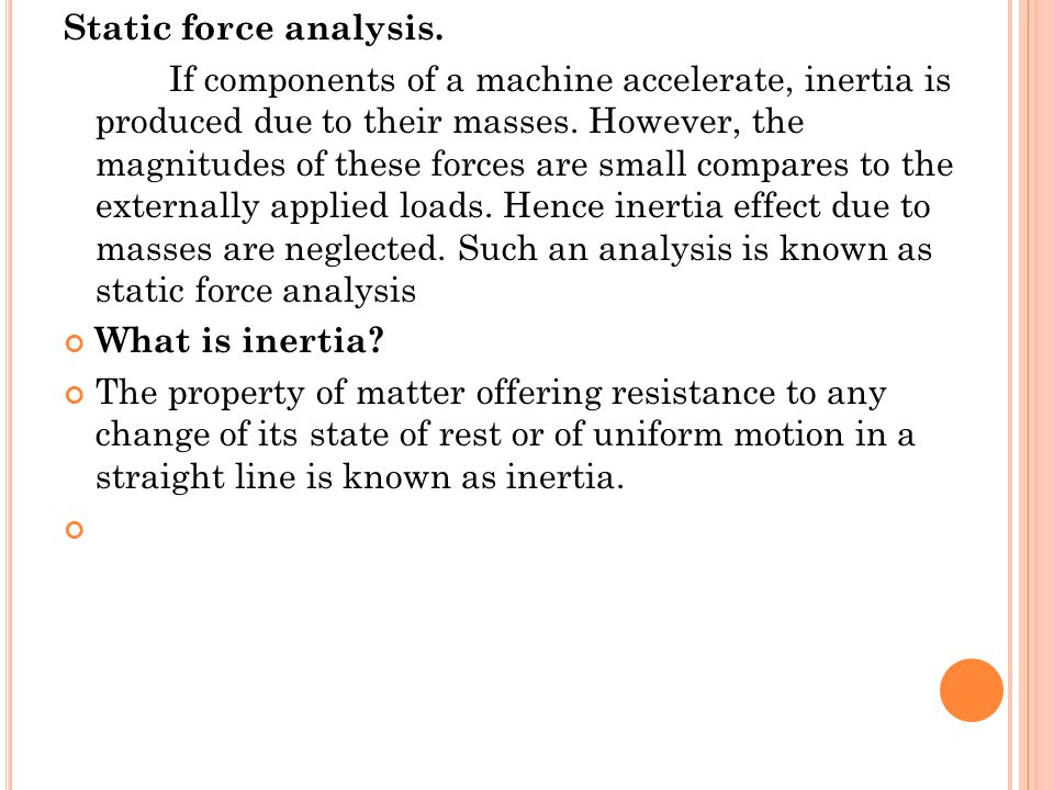 Static force analysis.