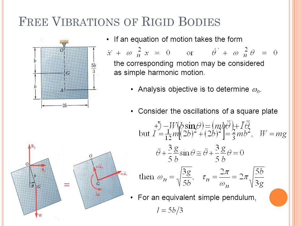 Free Vibrations of Rigid Bodies