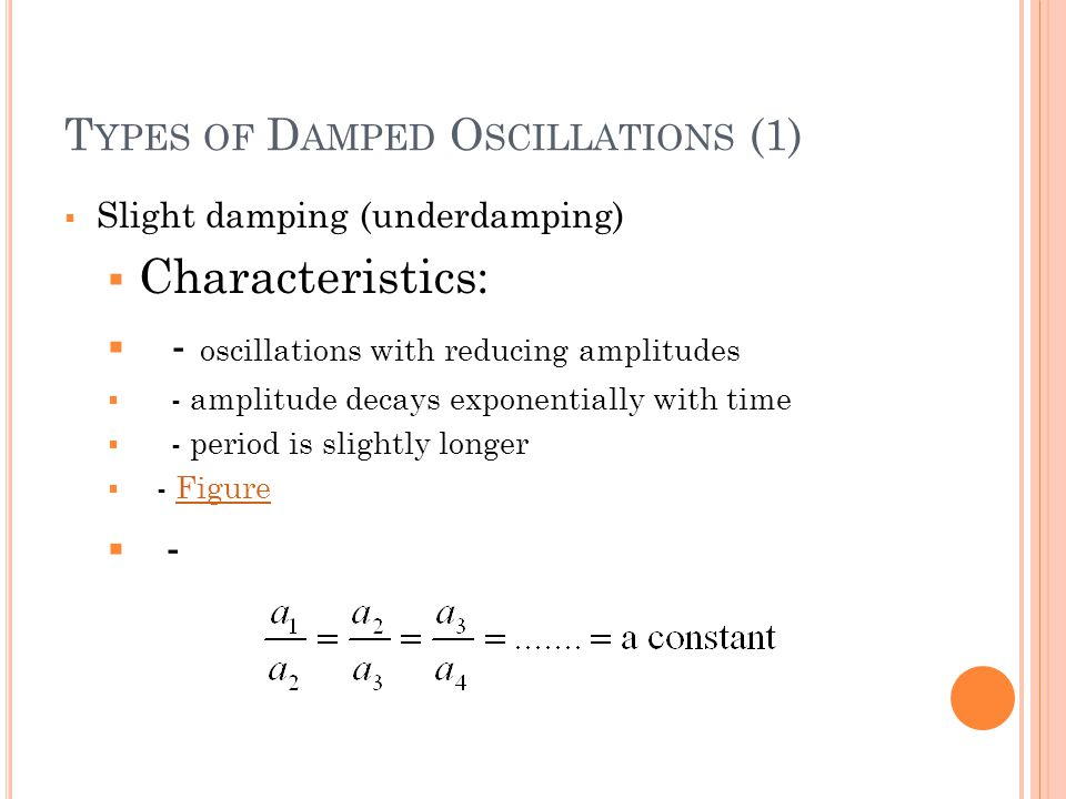 Types of Damped Oscillations (1)