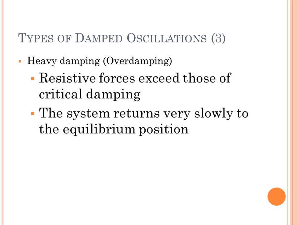 Types of Damped Oscillations (3)