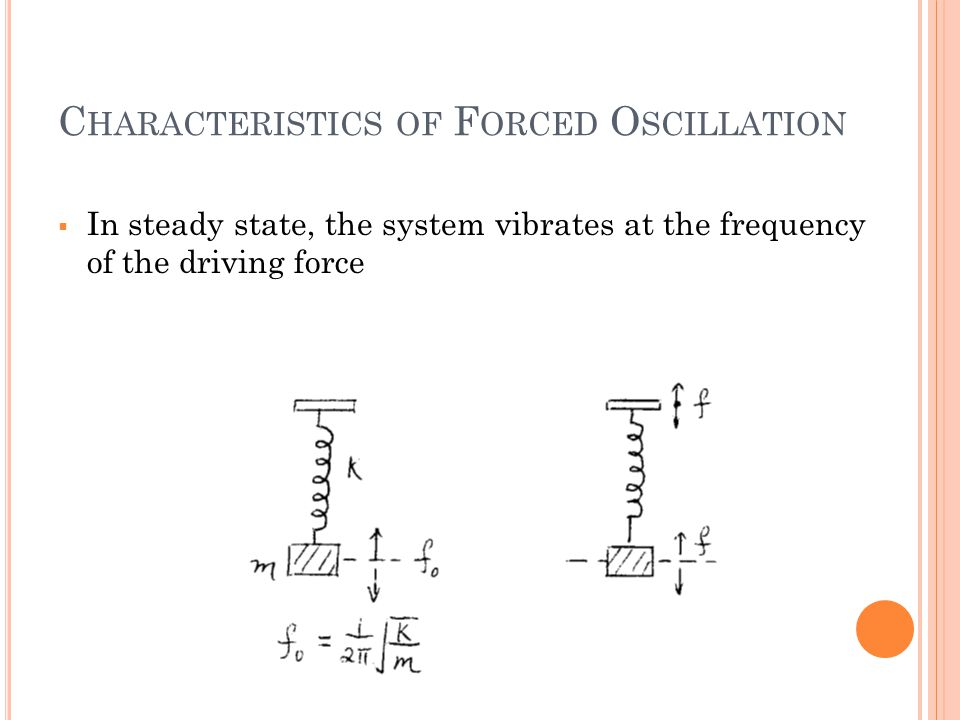 Characteristics of Forced Oscillation