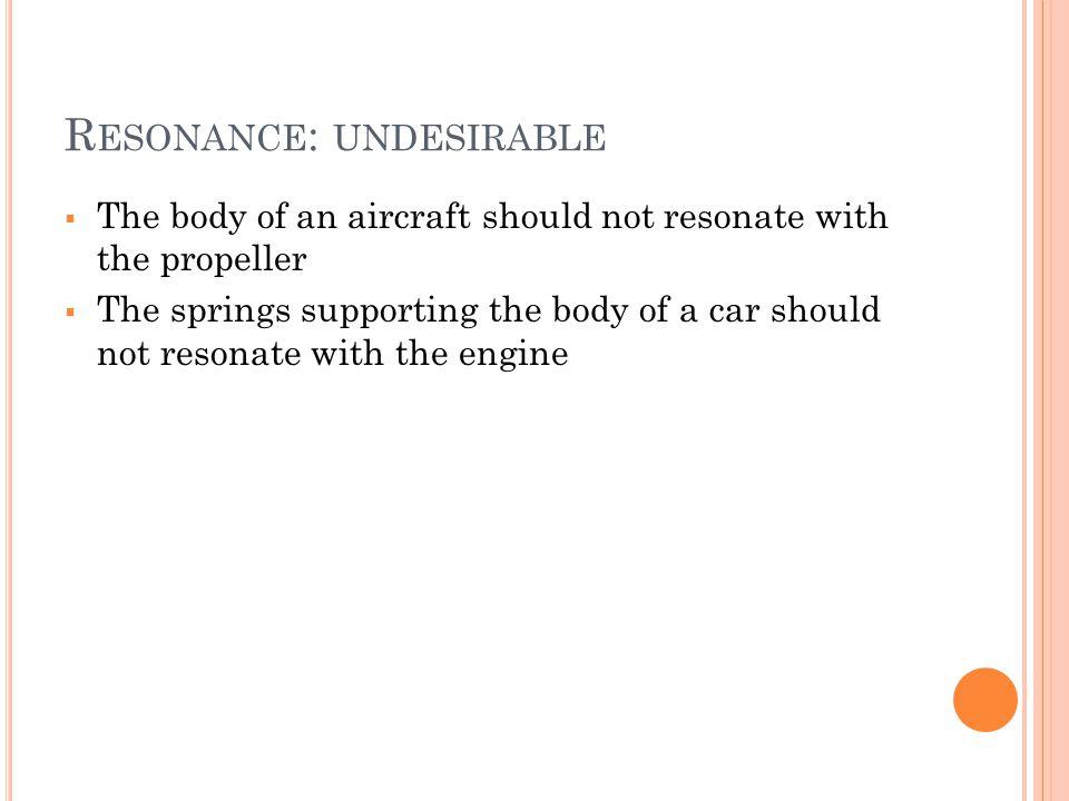 Resonance: undesirable