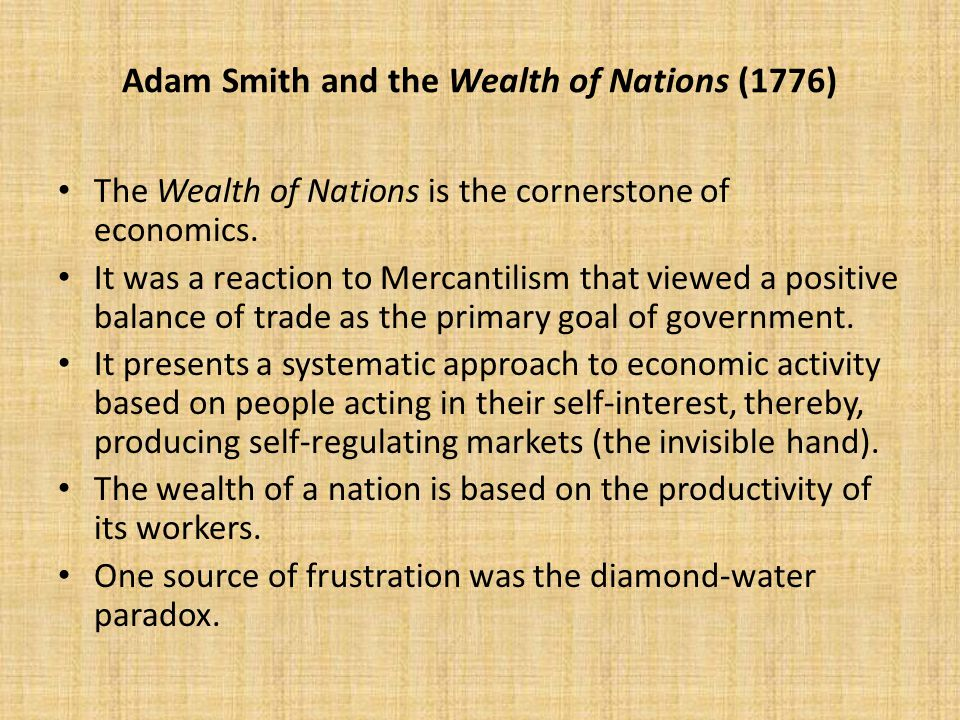 adan smiths theory of economy in the 1700s Adan smith's theory of economy in the 1700s pages 1 words 883 view full essay more essays like this: adam smith, theory of economy, let the market alone.