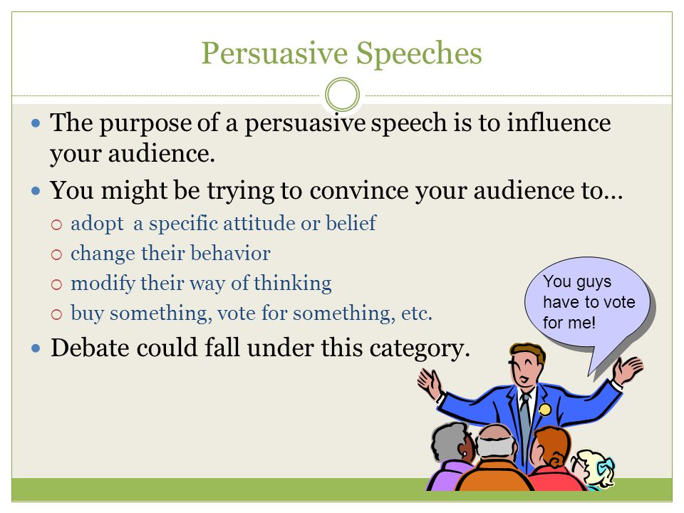 persuasive speech on voting The art of persuasion: a guide to using monroe's motivated sequence - nick lauderbach j150 benson - duration: 7:44 media crossroads 11,417 views.