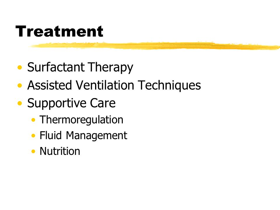 Treatment Surfactant Therapy Assisted Ventilation Techniques