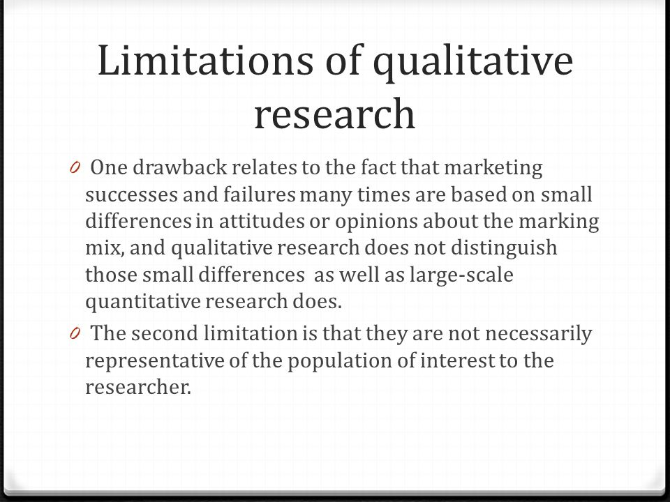 common research limitations