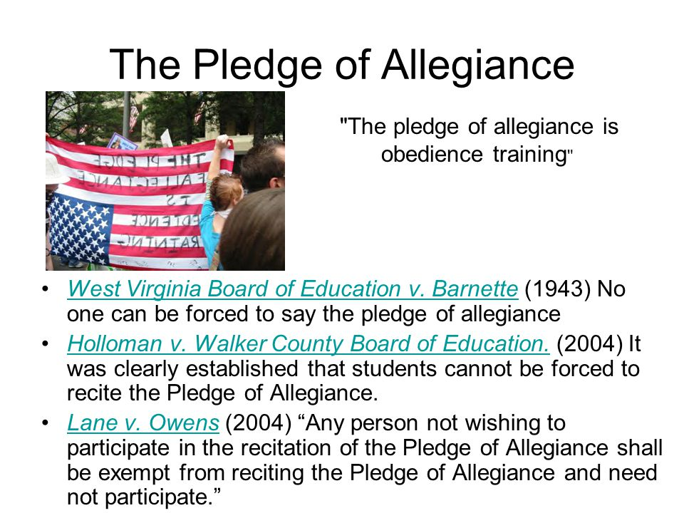 recitation of the pledge of allegiance essay If you need an essay you may case study 2 : i pledge allegiance 5discuss whether you believe that the recitation of the pledge of allegiance issue.