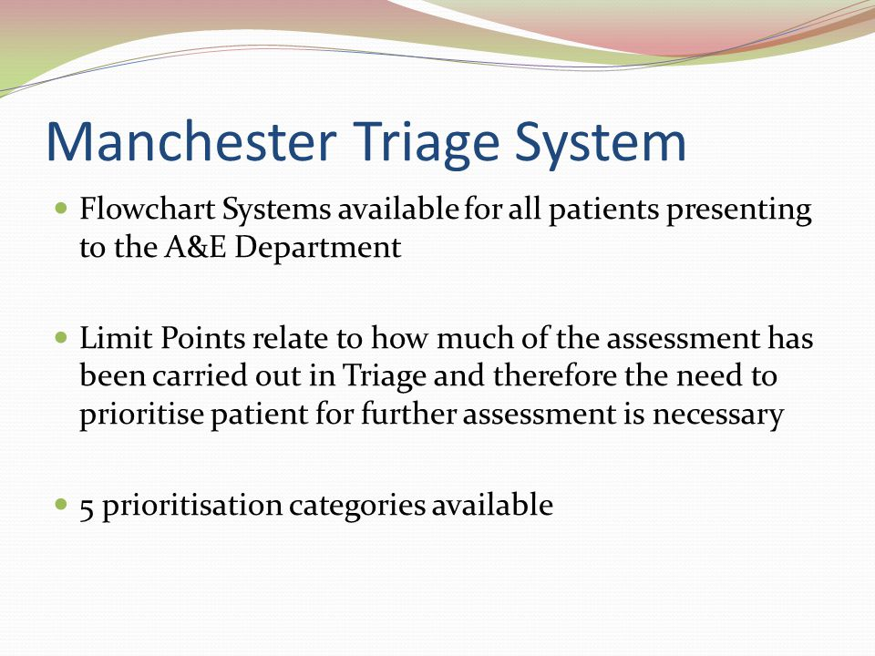 Introduction to the Use of Manchester Triage in Accident ...