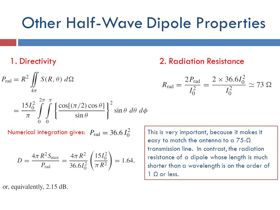Other Half-Wave Dipole Properties