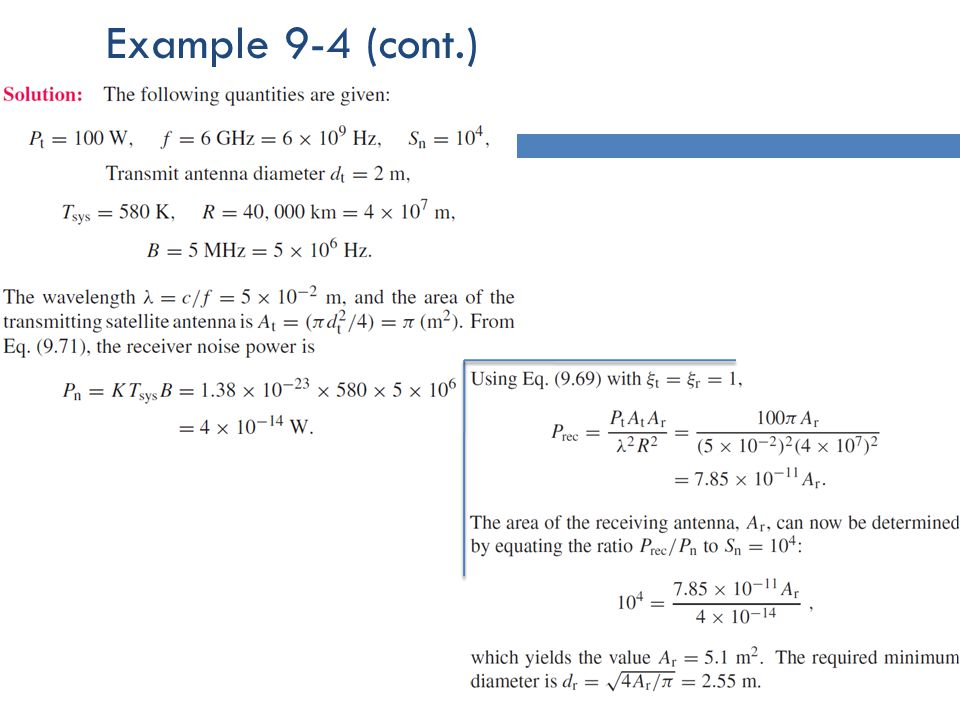 Example 9-4 (cont.)