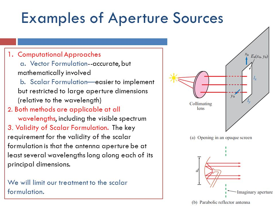 Examples of Aperture Sources
