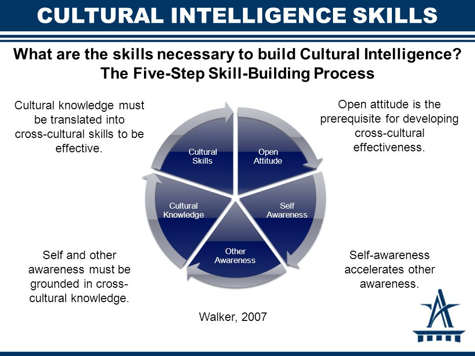 understanding cultural intelligence 'cultural intelligence' is the ability not just to understand others, but to understand  others who do not meet your cultural norms, and then act on that knowledge in.