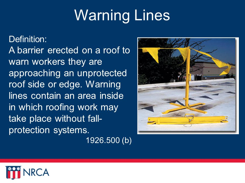 Roofing Industry Fall Protection From A To Z Ppt Download