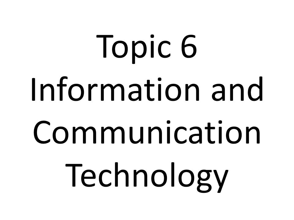 essay about information and communication technology