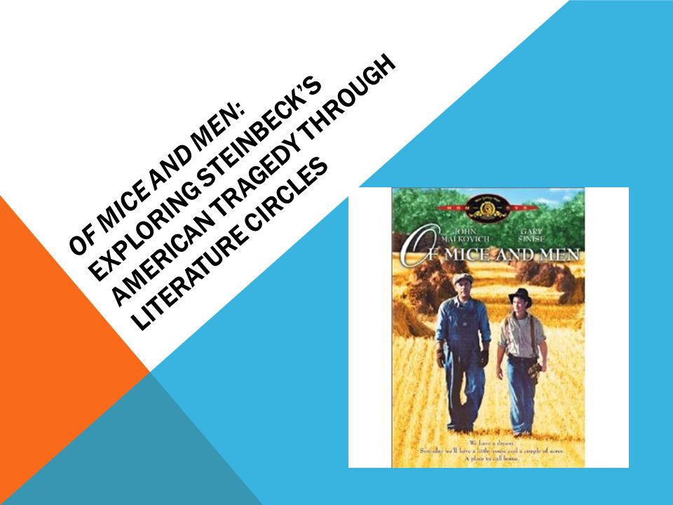 a focus on lenny and george in of mice and men John steinbeck's of mice and men is a parable about what it means to be human steinbeck's story of george and lennie's ambition of owning their own ranch, and the .