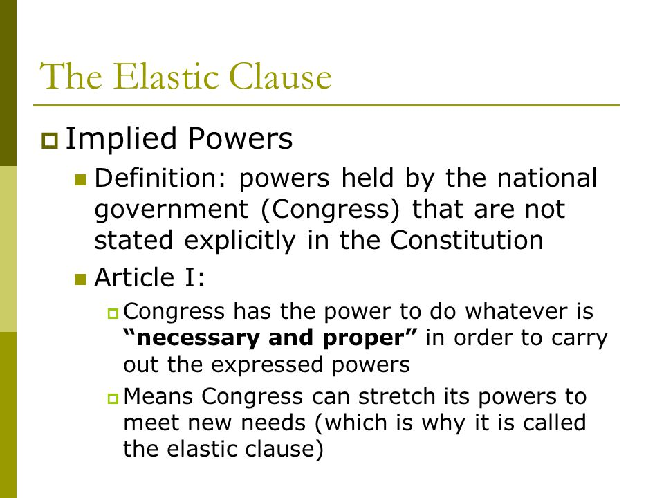 Images Of Implied Powers Of Congress Examples Spacehero