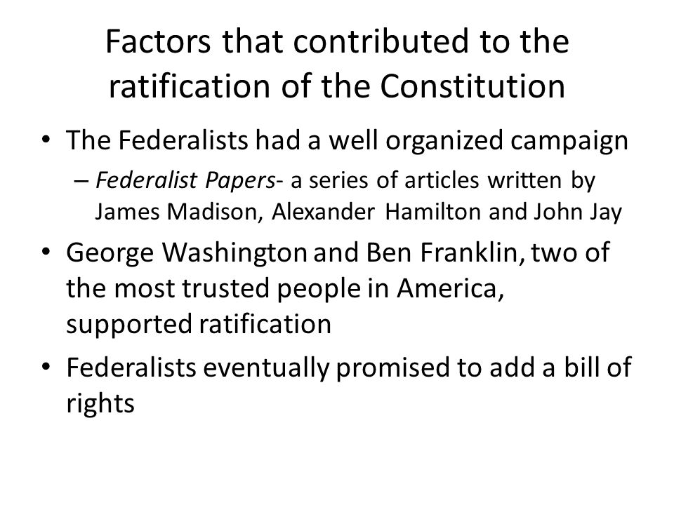 85 essays in support of the constitution