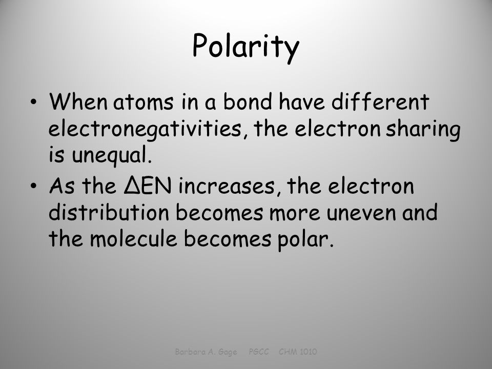 BONDING Let\'s get together… Barbara A. Gage PGCC CHM ppt video ...
