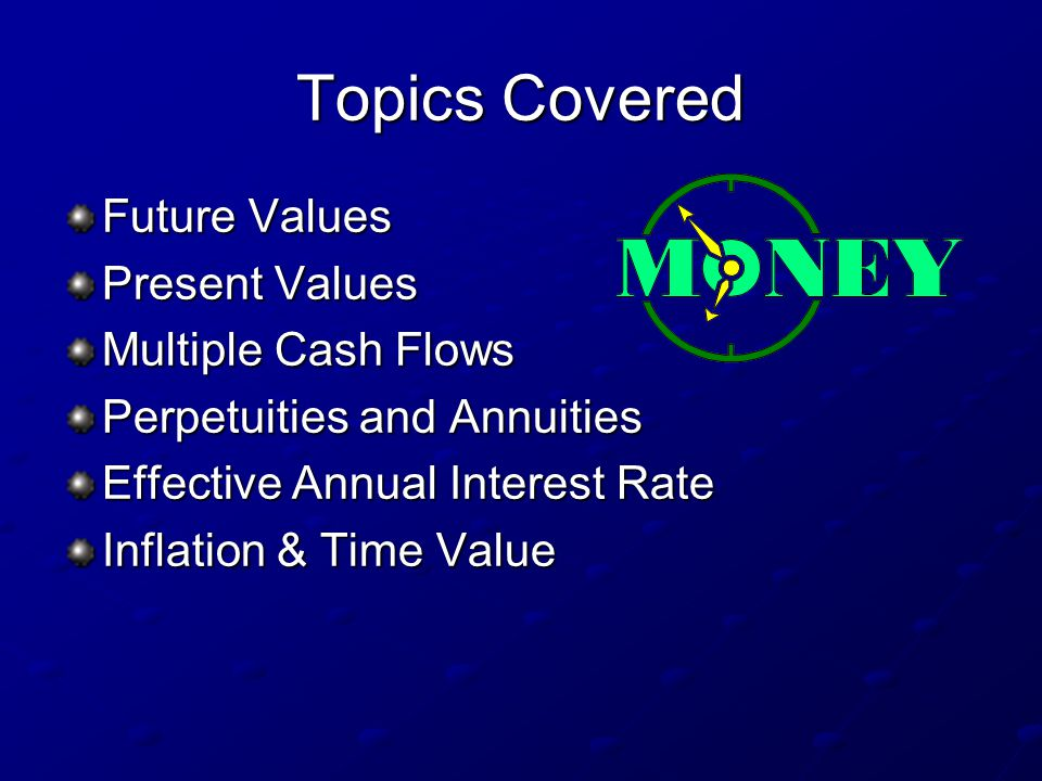 Time value of money multiple choice