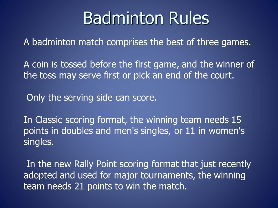 the rules of badminton Badminton rules categories mixed doubles participants must be born on or before 14th april 2003 men's doubles participants must be born on or before 14th april 2003.