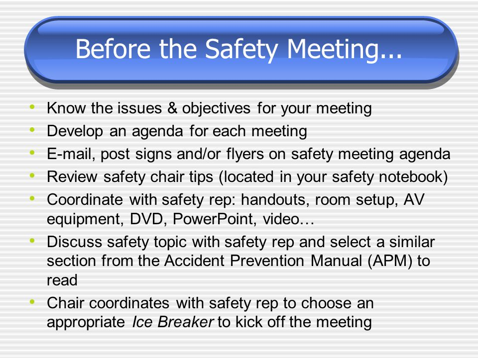 safety meeting agenda
