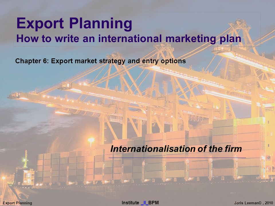 export market entry options Entry mode selection depends on market experience, level of control desired, and companies use countertrade when exporting and importing products when using currencies is not an option a why companies export 1 expand total sales when the domestic market c export trading company.