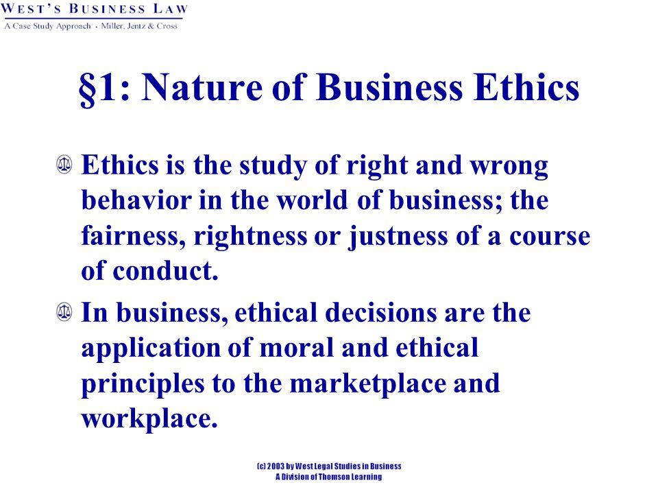 ethics the study of right and