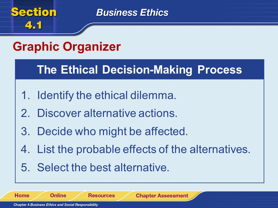 history of corey s ethical decision making process Learn more about ethical decision-making by exploring the baird decision model and ethical offers a five-step process for ethical decision-making history.