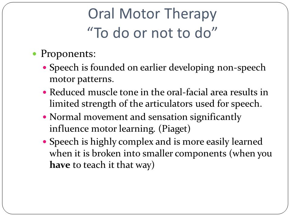 Treatment methodology for articulation and phonology ppt for Oral motor speech therapy