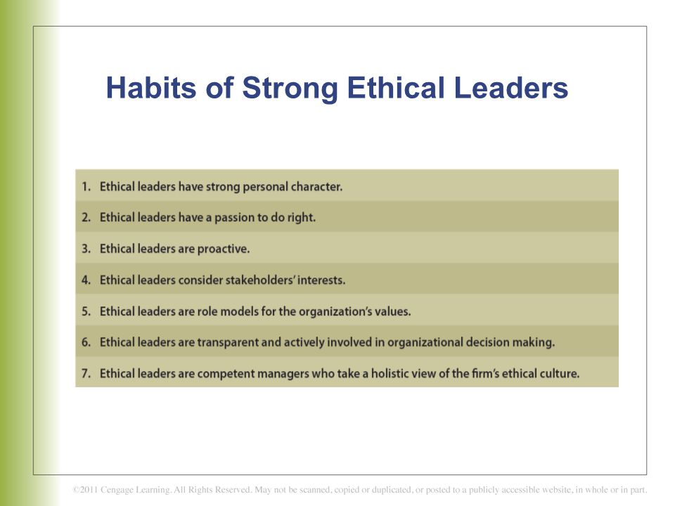 three habit to create strong ethical 1 chapter 3: values and morals: guidelines for living introduction to values and morals o overview o why we need values and morals.